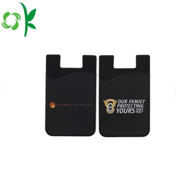 Personlig Silicone Credit Card Sleeve Phone Wallet