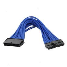 Sleeved 24pin ATX männlich zu weiblich Computer Motherboard Power Kabel
