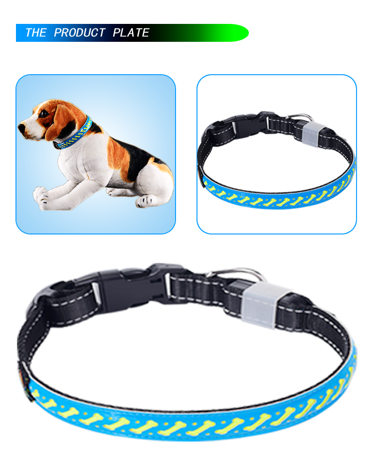 Rechargeable Dog Collar Led