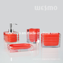 Transparent Polyresin Bathroom Set (WBP0835A)