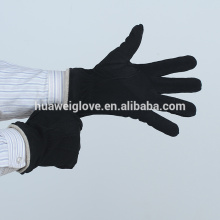 2015 Fashion and Warm Men's Leather Suede Gloves with Points on the Back