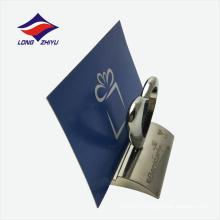 ЭКО-дружественных формы сердца изготовленный на заказ Логос имя держателя карты