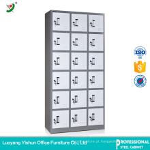 Cacifo de porta de aço da fábrica 18 do uso da fábrica do mobiliário de escritório para o armazenamento do pessoal