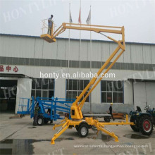 hydraulic manual Towable Boom Lift factory directly low price