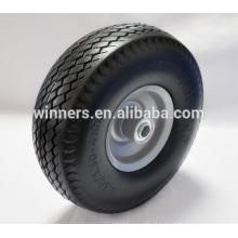 Pneumático da roda da polegada da espuma do plutônio 4.10 3.50-4 para o carrinho de mão de roda