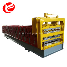 Mesin tiga dek baja warna Roll Forming Machine