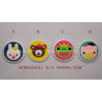 Silikon-Kühlraum-Magnet, weicher PVC-Karikatur-Magnet, Gummikarikatur-Magnet