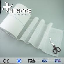 Atadura de gaze de algodão 100% para prevenir o sangramento
