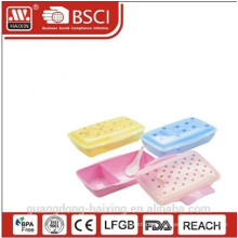 New & Hot selling Rectangular Plastic Lunch Box with divider