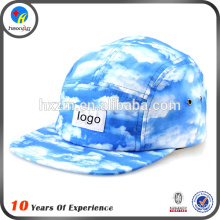 Design printed 5 panel cap for men