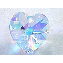 AB Crystal Heart Pendants, Crystal Beads