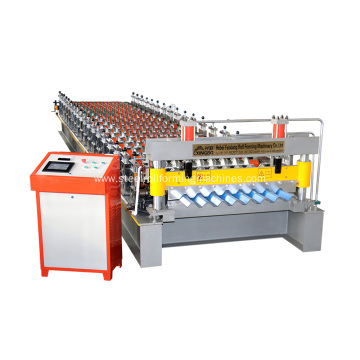 Aluminum corrugated steel sheet making machine