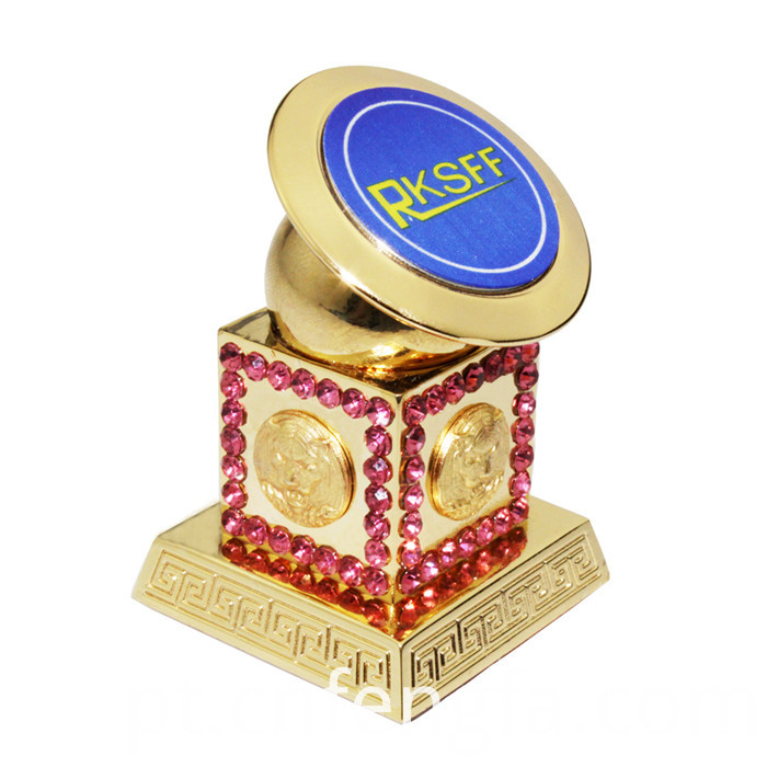 Desktop Phone Stand With Diamond Gold