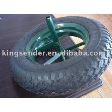 neumático de la carretilla de rueda
