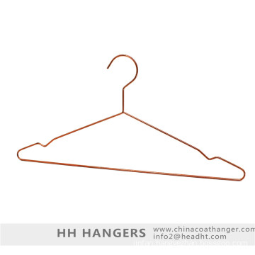 Copper Brass Metal Wire Clothes Hanger and Bottom Clips Hanger