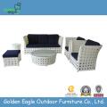 Muebles de jardín al aire libre sofá cama de mimbre