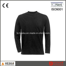 Round Collar 100% Cotton Blank Baselayer Shirt