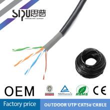 SIPU alta qualidade lan cat5e exterior impermeável rede cabo cabo cat5
