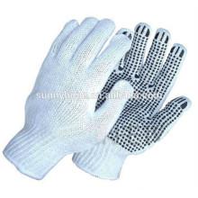 Luvas de pvc pontilhada luvas de malha de algodão luvas de fábrica