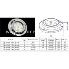 Imperméable à l'eau IP68 6W éclairage marin sous-marin avec acier inoxydable 316