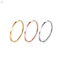 Three Colour Bridal Set Midi Stackable Stack Rings