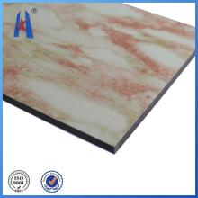 Matériaux de construction en tôle d'aluminium en marbre
