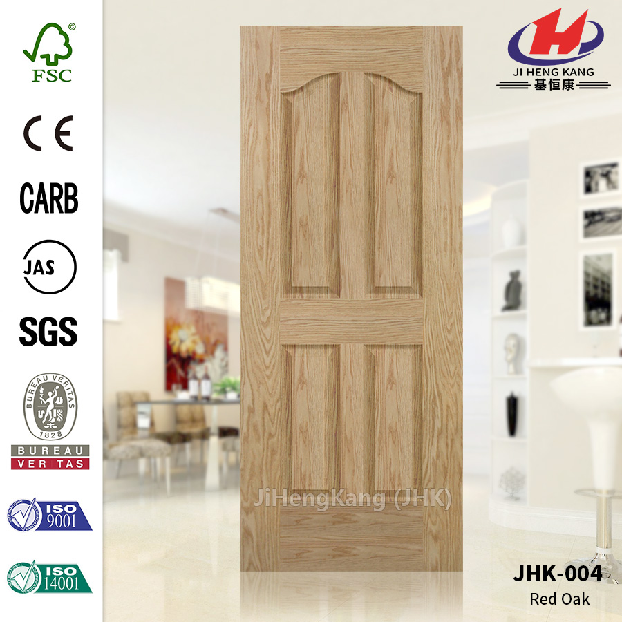 Red Oak Veneer Wood  Door Skin