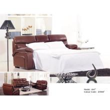 Sofá de cuero genuino de la sala (847)