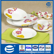 royal classic New Bone China dinnerware with pink flower