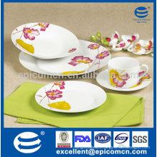 royal classic New Bone China dinnerware with pink flower