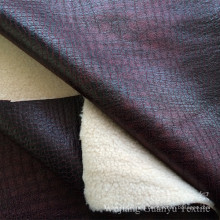 Compound Leather Sofa Fabric 100% Polyester with Bronzed Treatment