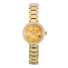 Stainless steel Gold PVD women's watches