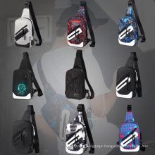Custom Logo Single Shoulder Bag Pack Waterproof Cross Body Small Sling Bag Travel Backpack Nylon Sports Chest Bag Men Waist Bags