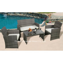 Promotional 4 Pieces Outdoor Wicker Patio Furniture Rattan Sofa Set