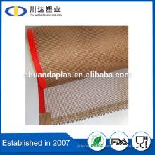 China fabricante ptfe teflon fibra de vidro revestido malha correia transportadora