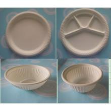 Vaisselle biodégradable en amidon de maïs Couteau à fourche à fourche