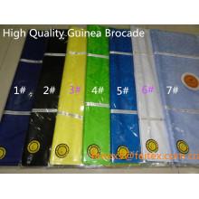 Новое прибытие 10 метров/мешок супер качество Гвинея парчи базен riche 100% хлопок желтый мягкий парфюм оптом 2015