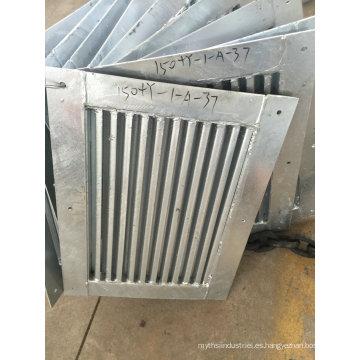 Piezas de soldadura y fabricación de metal de OEM para la construcción de puerta de ascensor