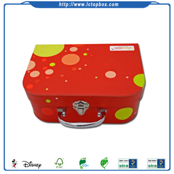 Customized Small Cardboard Kids Paper Suitcase