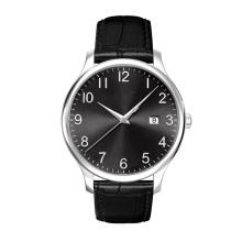 Fine Crafted Mens Reloj de pulsera Ss Case Calf Reloj de cuero