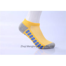 Algodão de esporte de homens moda meias cores brilhantes com almofada dentro
