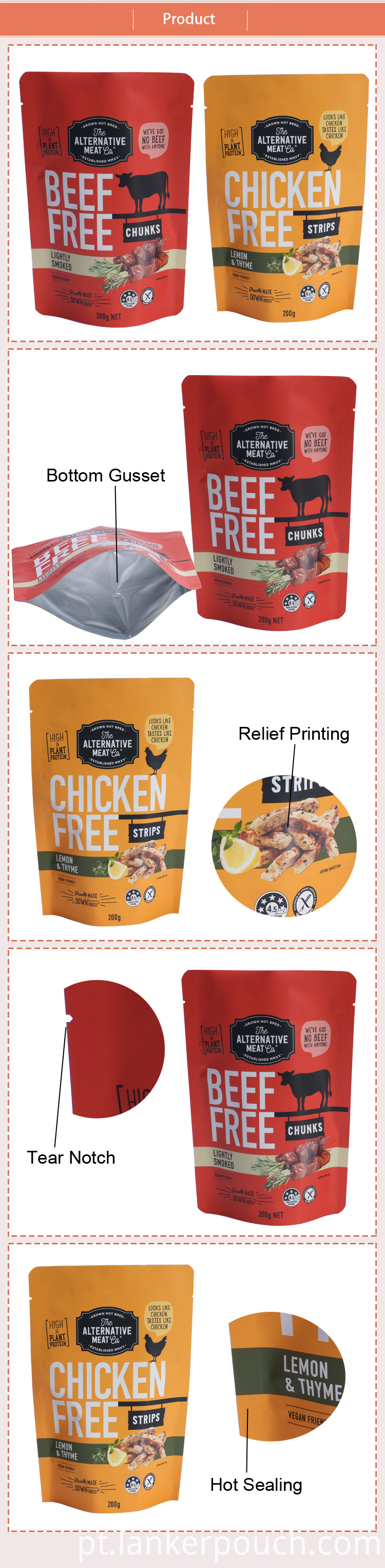 Plastic Food Chicken Packaging Bag