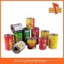Kundenspezifische Kunststoff matt Aluminium Laminierung Beutel Film auf Rolle für Lebensmittel Verpackung China Hersteller
