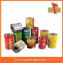 Película laminada de plástico mate personalizada de la bolsa en el rodillo para el empaquetado de los alimentos fabricante de China