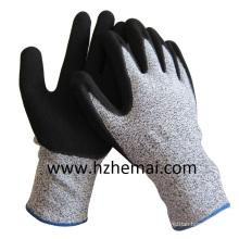 Gants de revêtement en nitrile de sable Gant de travail anti-cut Level 5 Chine