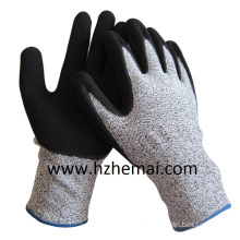 Sandy Nitrile Coating Gloves Anti Cut Level 5 Work Glove China