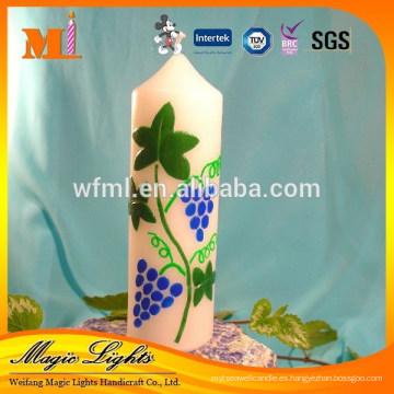Hermoso diseño de velas de pilar blanco de alta calidad
