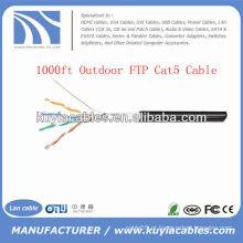 1000FT 4pairs fio ao ar livre do ftp da rede Cat5 ao ar livre