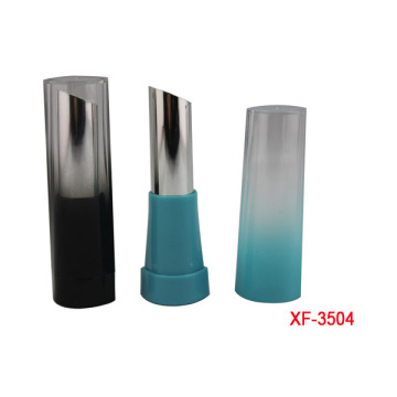 Cylindrical Gradient Blue Makeup Lipstick Container