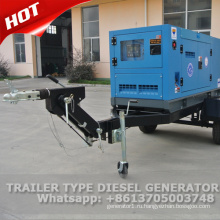 30 кВА генератор передвижной тепловозный молчком